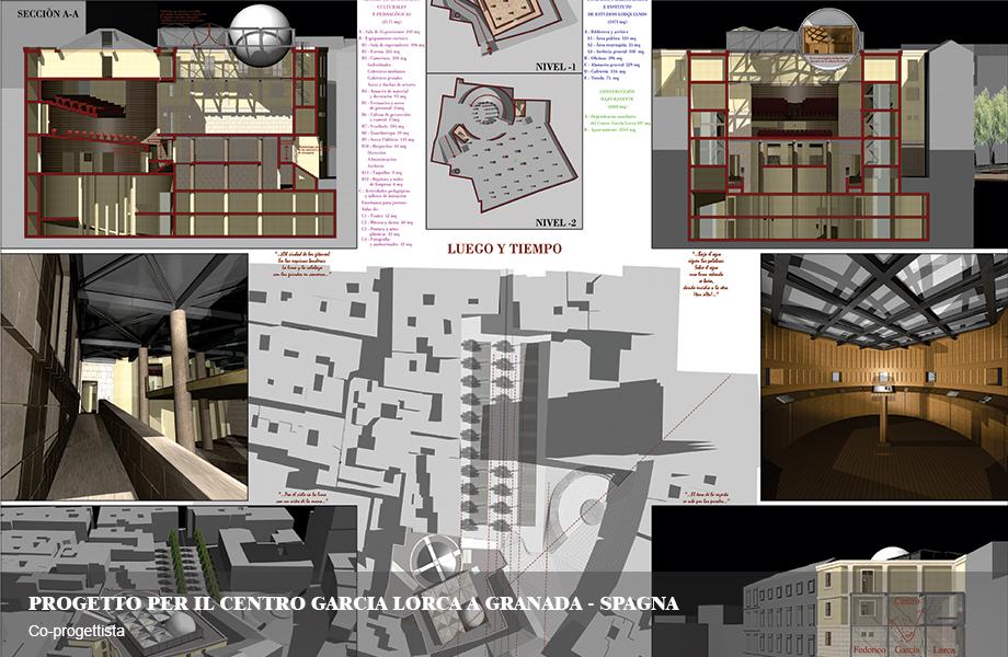 Centro culturale Garcia Lorca e sede della fondazione a Granada, Spagna